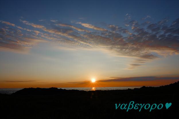 舳倉島の夕景