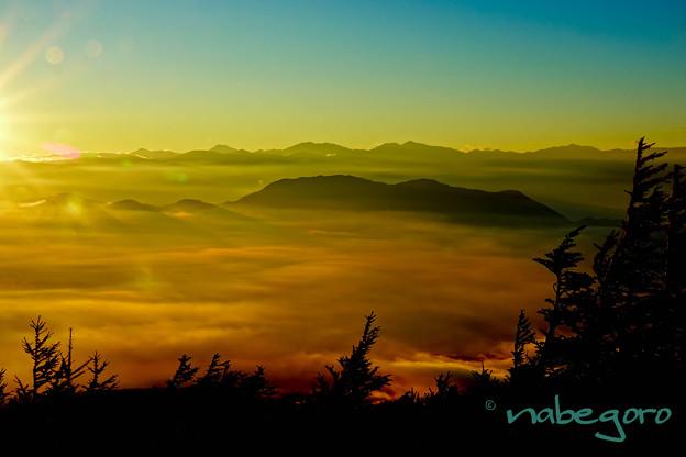 富士山五合目からの雲海