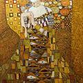写真: 漆絵・クリムト 「アデーレ・ブロッホ・バウアーの肖像I」