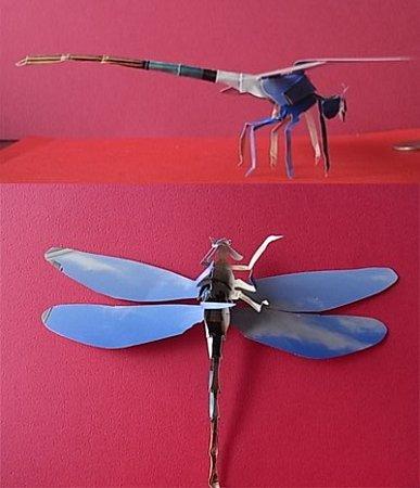 青空トンボ■切り折り紙