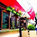 グダンスクの市端を飾るカフェレストラン