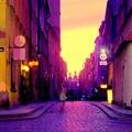 ワルシャワの夕暮れはセクシャルヴァイオレットの色に染まる