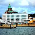 ヘルシンキの港にて。これからエストニアのタリン行きの船に乗る