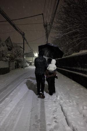 大雪_雪だるま?-3977