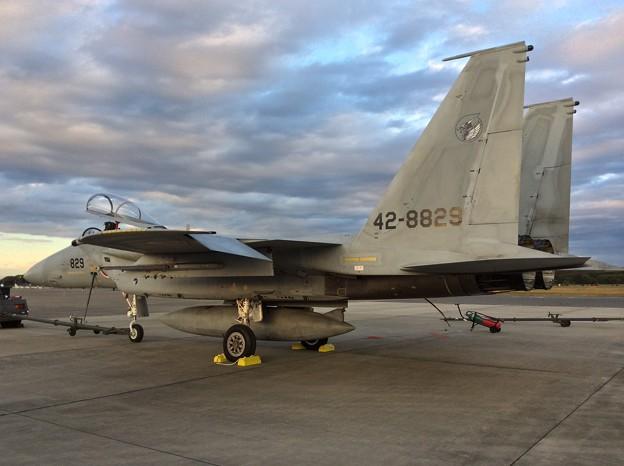 11月3日 入間基地航空祭 全てが終わって夕暮れ時のF-15。。