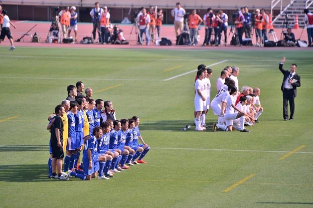 国立競技場での最後のサッカーOB戦・・いよいよ試合開始前