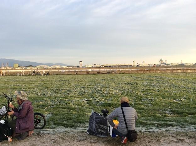 12月7日 新田原基地エアフェスタ2014の朝。。霜が降りるほど寒い朝