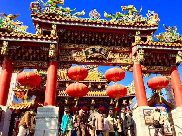 中国の神社。。関帝廟。。2月21日