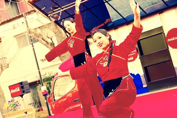 横浜中華街春節イベント。。中国舞踊 2月21日