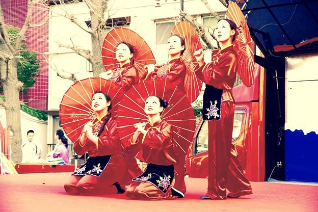 中国舞踊の中国美女たち。。横浜中華街春節 2月21日