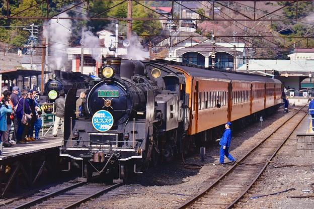 大井川鐵道SL。。まもなく出発。。