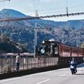 Photos: 大井川鐵道SL。。SL対バイクと車。。