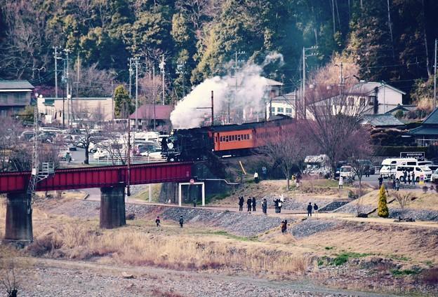大井川鐵道SLの風景。。川根温泉