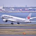 羽田空港ランウェイ34Rから上がり JAL B787-8。。20170325