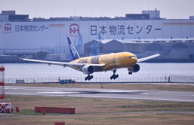 羽田ランウェイ34Lアプローチ 伊丹から戻りANA C-3PO JET 20170325