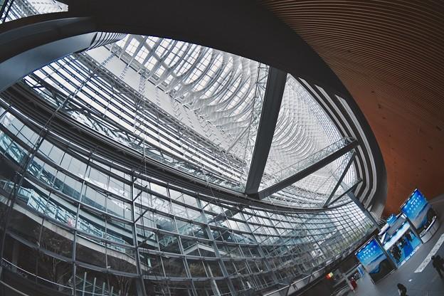まるで魚の骨。。ガラス張りの建築物 国際フォーラム 20170422