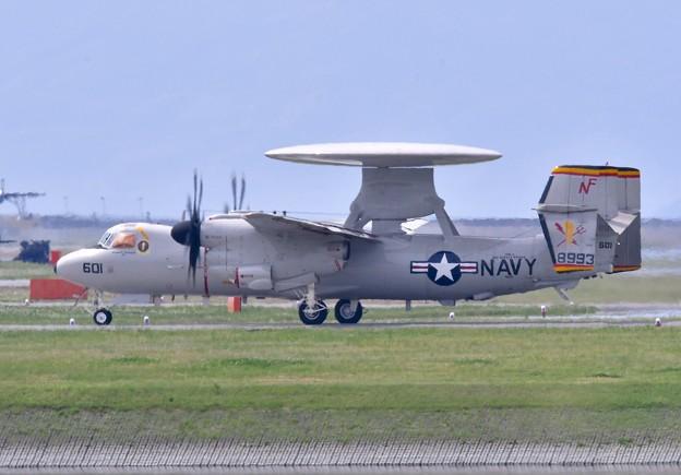 新しい艦載機部隊。。E-2Dアドバンスホークアイ色付き披露。。5月3日