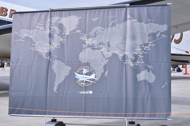岩国基地フレンドシップデーに飛来したブライトリングDC-3ワールドツアー