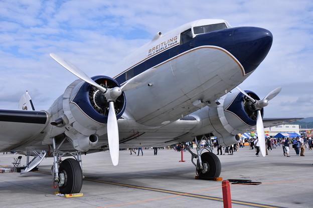 岩国基地フレンドシップデー。。一番古い航空機ダグラスDC-3