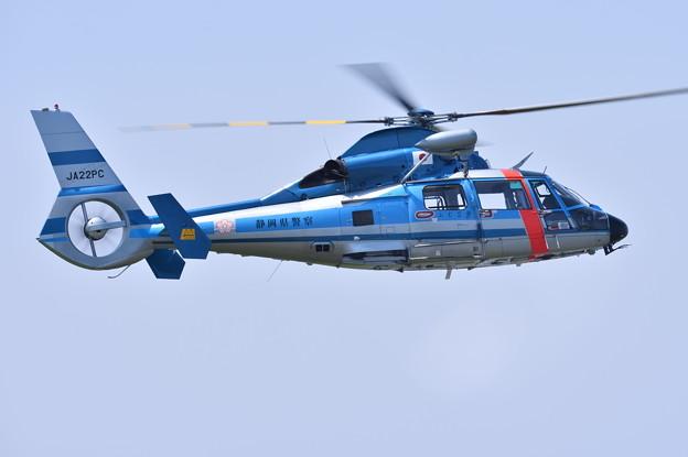 静浜基地航空祭。。地元静岡県警ヘリの機動飛行