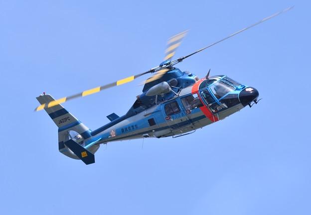静浜基地航空祭。。戦闘機よりもアグレッシブに静岡県警ヘリ旋回 20170521