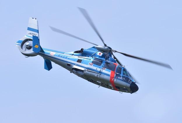 静浜基地航空祭。。急降下する静岡県警ヘリ  20170521