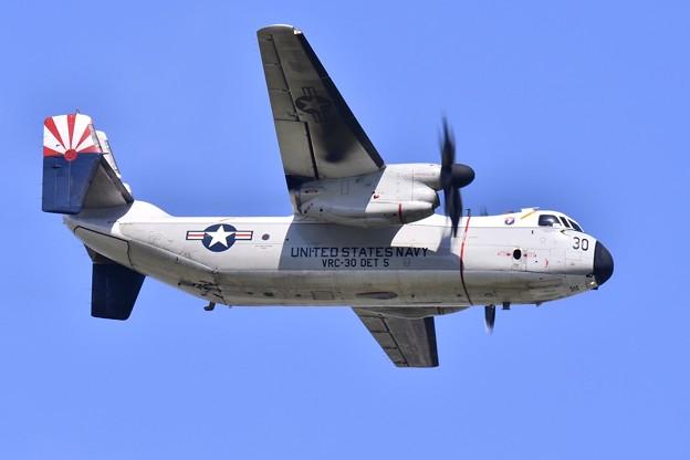 ある日の厚木基地。。空母へ輸送開始 C-2A 上がり 20170522