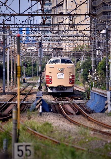 貨物線を走る189系国鉄色 最初で最後の風景 20170528