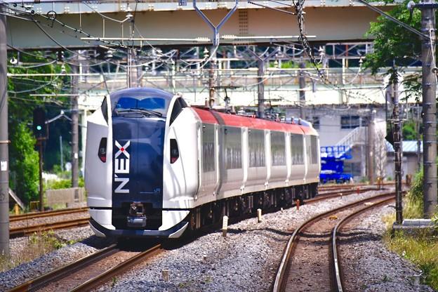 横須賀線を走って成田エクスプレスE259系