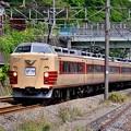 先回りして東海道貨物線走る国鉄色189系 20170528