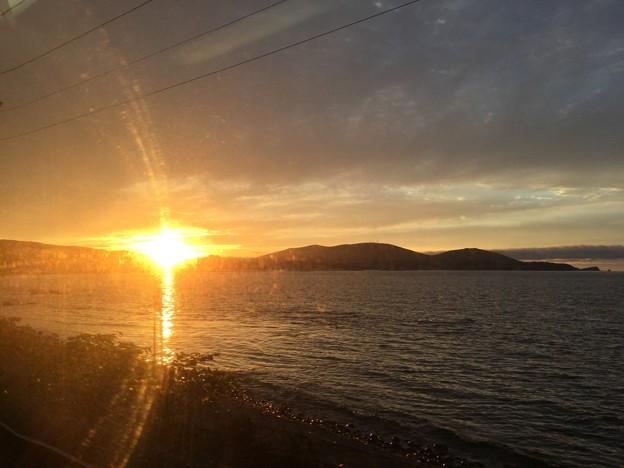 Photos: 撮って出し。。小樽へ向かう途中の夕焼け。。7月22日