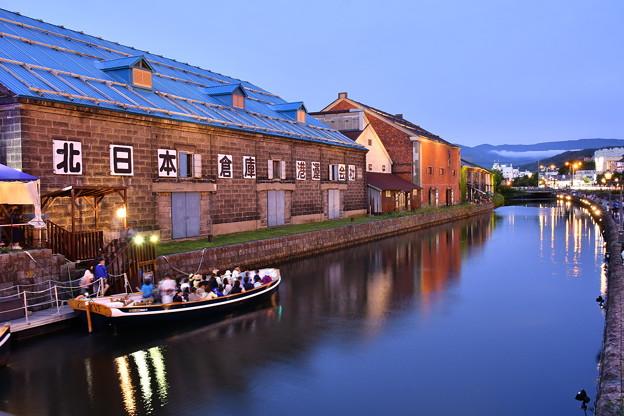 撮って出し。。夕暮れ時の小樽運河 7月22日