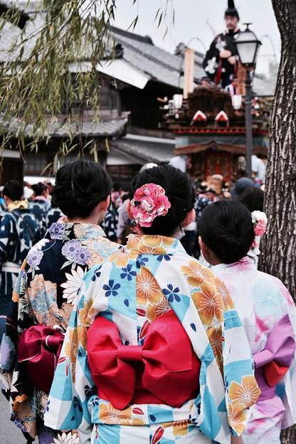佐原の大祭 夏祭り・・お祭りに地元の浴衣の子達・・20170716