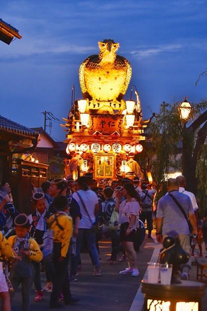 鳥の山車。。ライトアップされて光る 佐原の大祭夏祭り夜へ 20170716