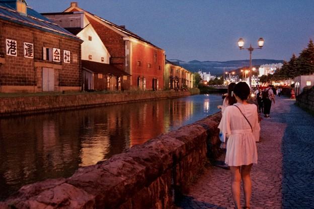 昔の風景な小樽運河。。昭和時代風 20170722