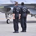 写真: F-16デモストレーションチームスタッフ配置について。。