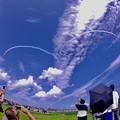 東松島夏まつり。。松島基地上空水平なハート描き 20170826