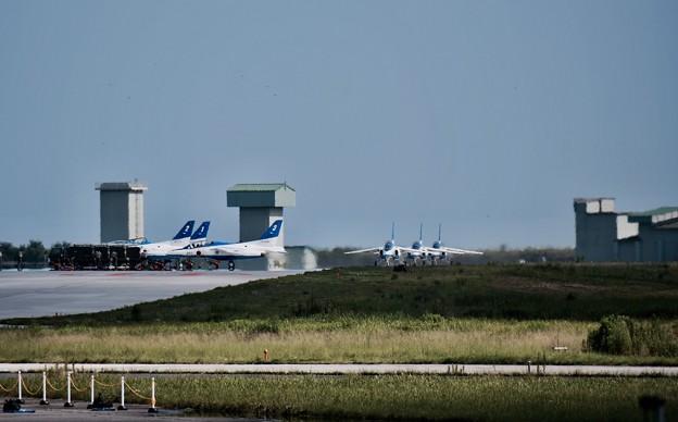 東松島夏まつり。。展示飛行終えて松島基地帰投 ブルーインパルス 20170826