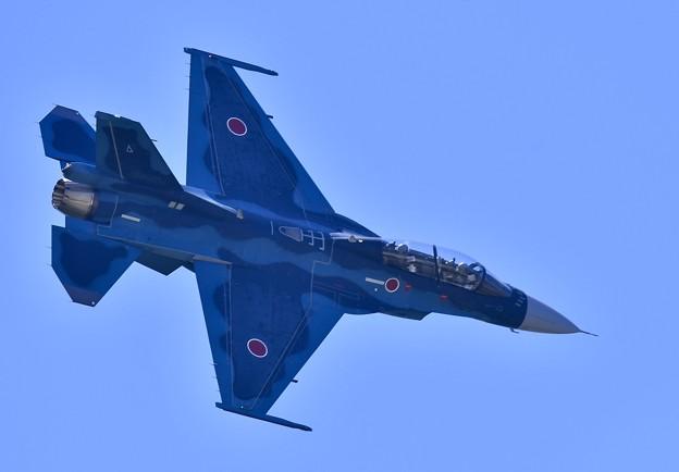 松島基地復興航空祭。。松島のF-2B機動飛行。。お背中見せ