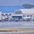 撮って出し。。雨も上がってハンガーから出て来たイーグル 那覇基地 11月22日