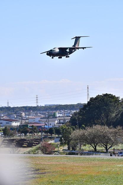 入間基地航空祭予行。。C-1ランウェイ35 市街地をアプローチ。。(^^)20171030