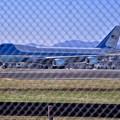 柵越しの向こうはアメリカ合衆国 サブ機エアフォースワン 横田基地 20171105