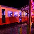 撮って出し。。イルミネーション綺麗な無人駅 小湊鉄道 1210日