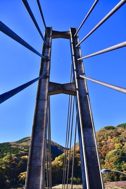 三保ダム 河口の吊り橋。。20171112