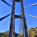 写真: 三保ダム 河口の吊り橋。。20171112