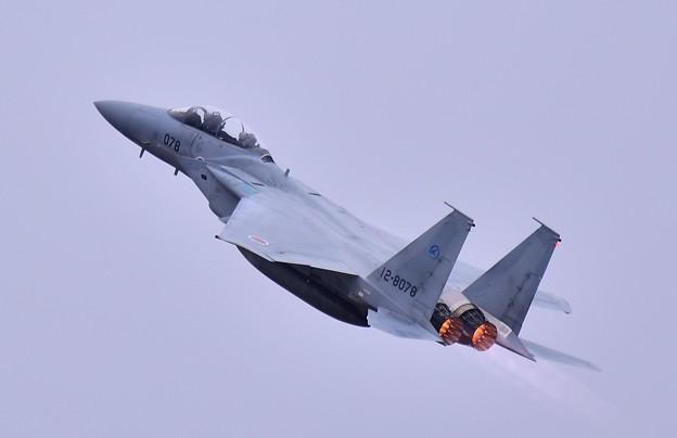雨降る前に最後の機動飛行へ飛行開発実験団F-15上がり
