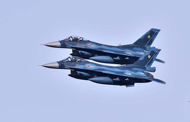 築城基地航空祭前日予行練習。。低く編隊飛行第6飛行隊F-2