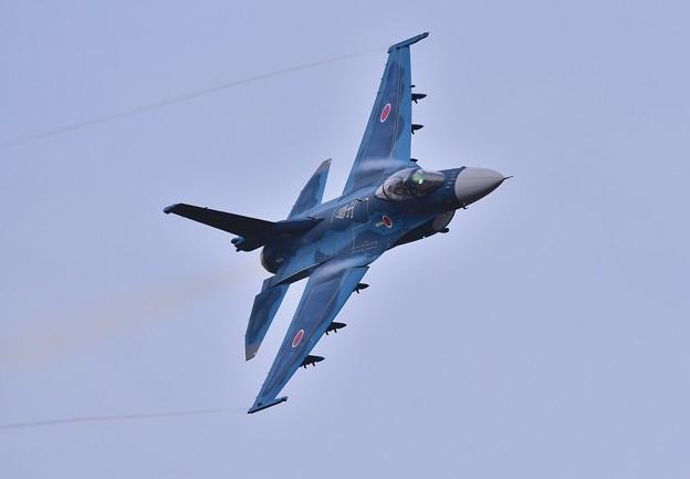 築城基地航空祭予行練習。。鋭い突っ込みAGG F-2