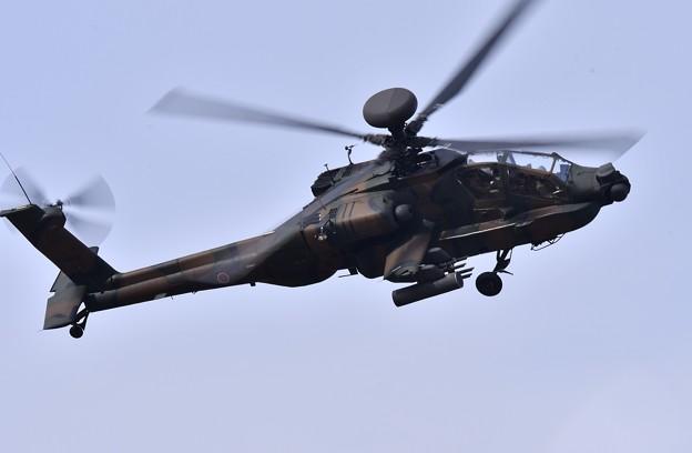 築城基地航空祭予行練習。。アパッチ機動飛行 AH-64