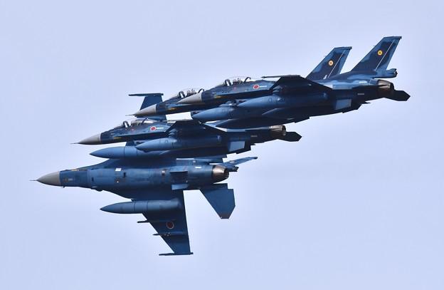 築城基地航空祭予行練習。。連続オーバーヘッドアプローチ(1)